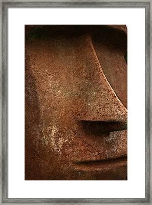 Moai Face Framed Print by LeeAnn McLaneGoetz McLaneGoetzStudioLLCcom