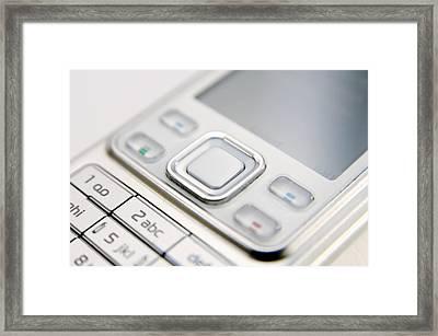 Mobile Phone Framed Print by Johnny Greig
