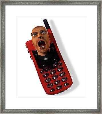 Mobile Phone Rage Framed Print by Victor Habbick Visions