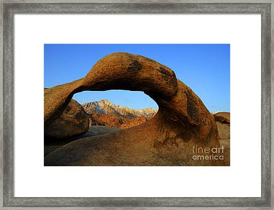 Mobius Arch California Framed Print by Bob Christopher