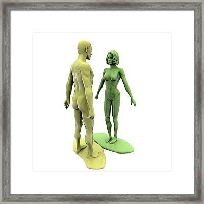Model Relationship Framed Print by Christian Darkin