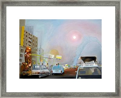 Modendaities Framed Print by Leonard Aitken