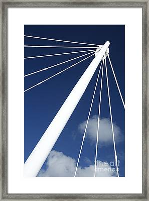 Modern Abstract Structure Framed Print by Gaspar Avila