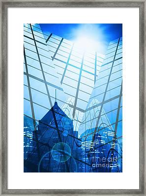 Modern City Framed Print by Setsiri Silapasuwanchai