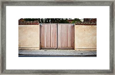 Modern Gate Framed Print by Tom Gowanlock