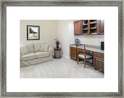 Modern Living Space Framed Print by Skip Nall
