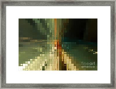 Modern Mosaic Wall Art- Three Framed Print by Mark Lawrence