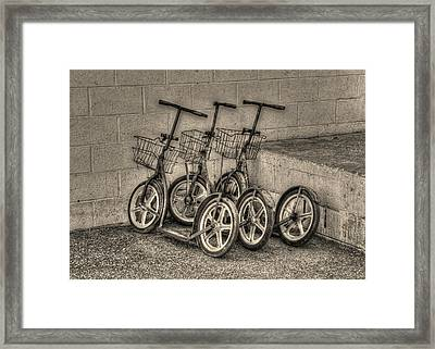 Modern Old Ways In Black And White Framed Print by Greg and Chrystal Mimbs