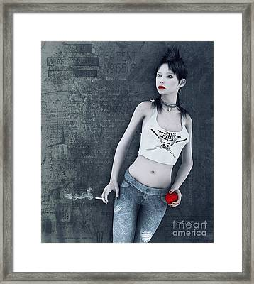 Modern Snow White Framed Print by Jutta Maria Pusl
