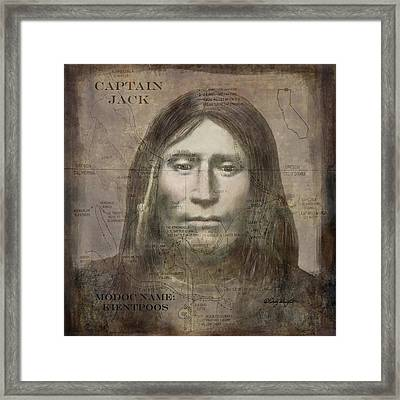 Modoc Indian Captain Jack Framed Print by Cindy Wright