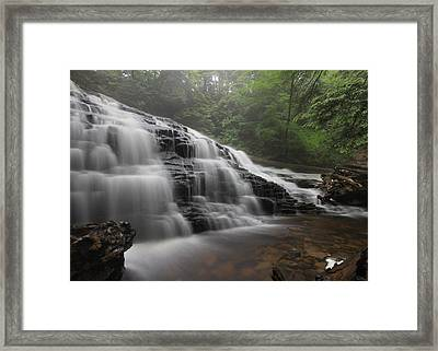 Mohawk Falls Framed Print by Lori Deiter