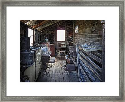 Molson Ghost Town Storage Shed Framed Print by Daniel Hagerman