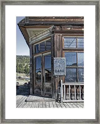 Molson Washington Ghost Town Bank Framed Print by Daniel Hagerman