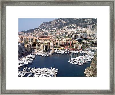 Monaco Harbour Framed Print by Marlene Challis