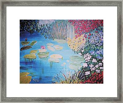 Monet Style By Alanna Framed Print by Alanna Hug-McAnnally