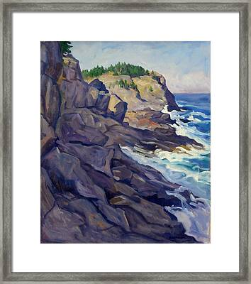 Monhegan Coast Framed Print by Thor Wickstrom