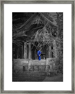 Monk And Bell Framed Print by Naxart Studio