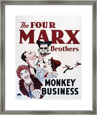 Monkey Business, Clockwise From Top Framed Print by Everett