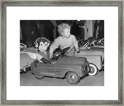 Monkey Business Framed Print by Fred Morley