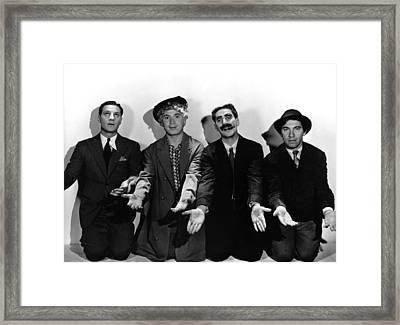 Monkey Business, From Left Zeppo Marx Framed Print by Everett