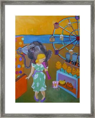 Monkey On My Back Framed Print by Diana Ogaard
