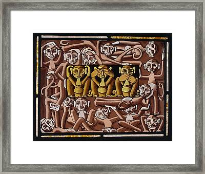Monkeys Framed Print by Victoria Millard
