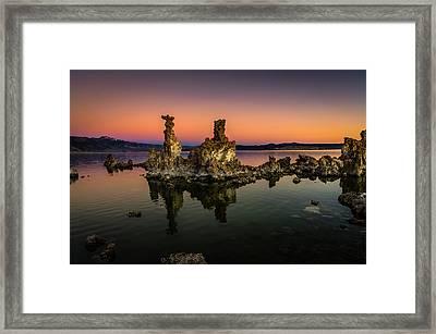 Mono Lake Tufa At Sunrise Framed Print by Scott McGuire