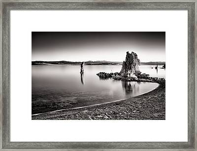 Monochromatic Mono Lake Sunrise Framed Print by Tanya Harrison