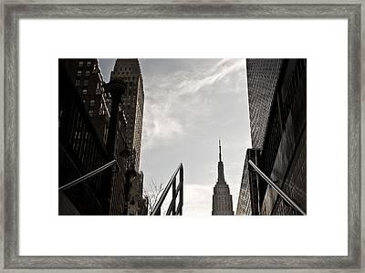 Monochrome Framed Print by Aurica Voss