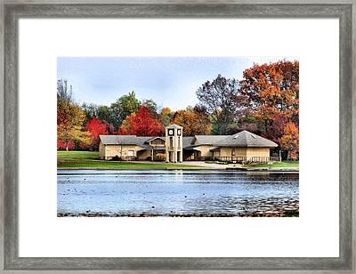 Monroe Falls Park Framed Print by Kristin Elmquist