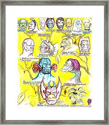 Monster Genealogy Framed Print by Jamie Jonas