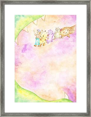 Monsters Framed Print by Asida Cheng