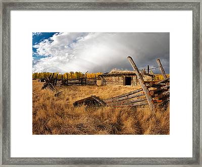 Montana History Framed Print by Leland D Howard