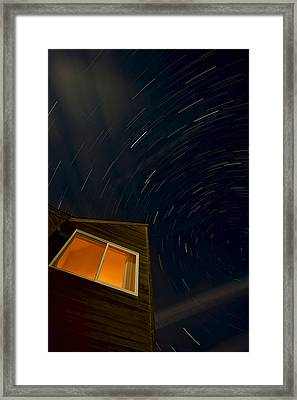 Montauk Star Trails Framed Print by Mike Horvath