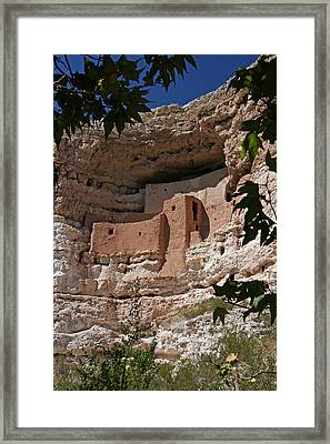 Montezuma Castle Cliff Dwellings In The Verde Valley Of Arizona Framed Print by Elizabeth Rose