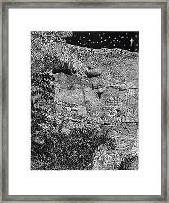 Montezuma Castle  Framed Print by Jack Pumphrey