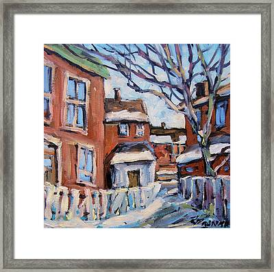 Montreal Scene 03 By Prankearts Framed Print by Richard T Pranke