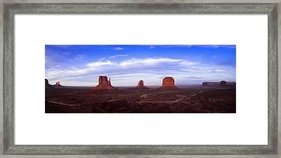 Monument Valley At Dusk Framed Print by Andrew Soundarajan
