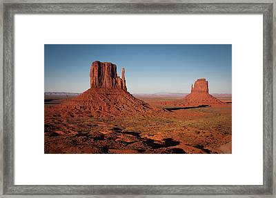 Monument Valley At Sunset Framed Print by by Carlos Esteves TOP Photography