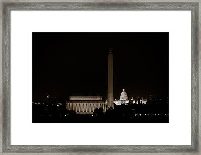 Monuments In Black And White Framed Print by David Hahn