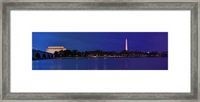 Monuments On The Potomac Framed Print by Metro DC Photography