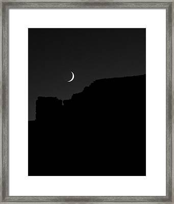 Moon Cedar Mesa Utah Framed Print by Troy Montemayor