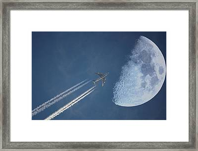 Moon Flight Framed Print by G.t.