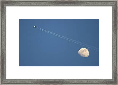 Moon In Sky Framed Print by Vittorio Ricci - Italy