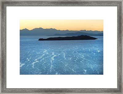 Moon Island In The Middle Of Lake Titicaca. Republic Of Bolivia. Framed Print by Eric Bauer
