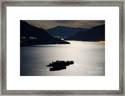 Moon Light Over Islands Framed Print by Mats Silvan