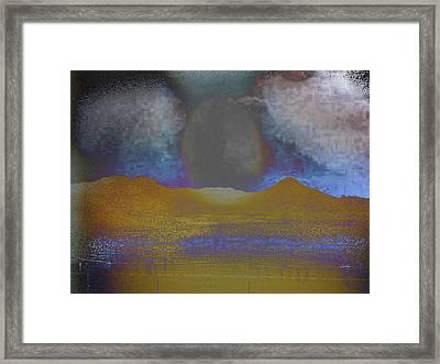 Moon Over Arizona 2 Framed Print by Lenore Senior and Angela L Walker