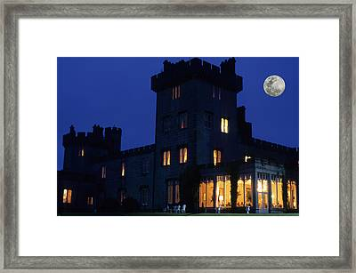 Moon Over Dromoland Castle  Framed Print by Carl Purcell