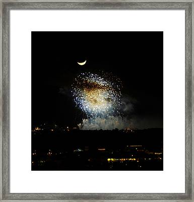 Moon Over Epcot Framed Print by David Lee Thompson