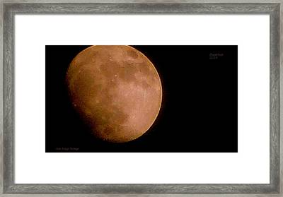 Moon Over The Cheat River 2012 Framed Print by Dale Briggs